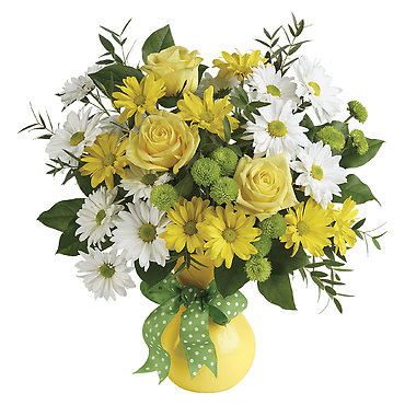 Daisies And Dots Bouquet