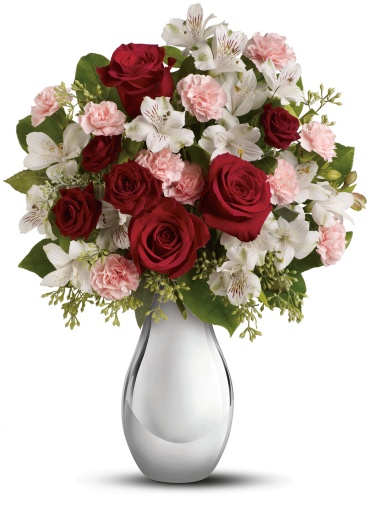Crazy for You Bouquet with Red Roses